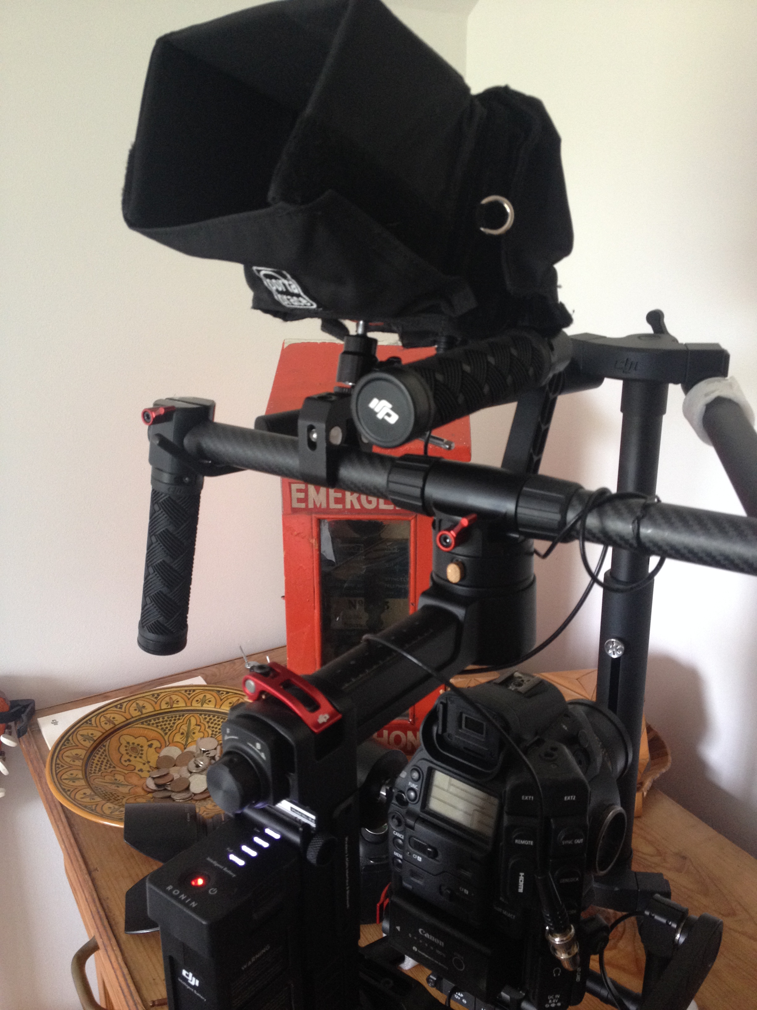 Ronin m C300 with TV logic monitor